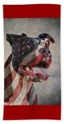 Flag Dog Beach Towel