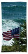 Flag Flying Beach Towel