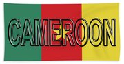 Flag Of Cameroon Word. Beach Towel