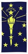 Flag Of Indiana Wall Beach Towel