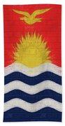 Flag Of Kiribati Wall Beach Towel