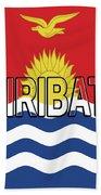 Flag Of Kiribati Word Beach Towel