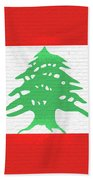 Flag Of Lebanon Wall Beach Towel