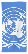 Flag Of The United Nations Beach Towel