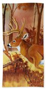 Flagging Deer Beach Towel