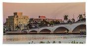 Flagler Bridge In The Evening I Beach Sheet
