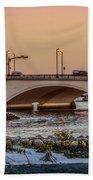 Flagler Bridge In The Evening IIi Beach Towel