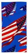 Flags American Beach Towel