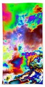 Flamboyant Cloudscape Beach Towel