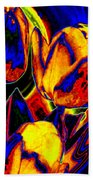 Flamboyant Tulips Beach Towel