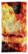Flame Gems Beach Towel