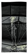 Flame On Hot Air Balloon Beach Towel