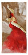 Flamenco Dance Women 02 Beach Towel