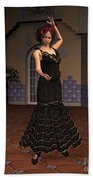 Flamenco Dancer Beach Sheet