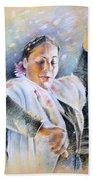Flamenco Dancer Beach Towel