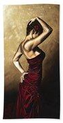 Flamenco Woman Beach Sheet