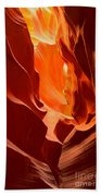Flames In The Walls Of Antelope Beach Towel
