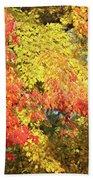 Flaming Autumn Leaves Art Beach Towel
