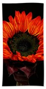 Flaming Flower Beach Towel