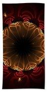 Flaming Night Flower Beach Towel