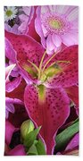 Flaming Tiger Lily Beach Towel
