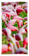 Flamingo 6 Beach Towel