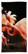 Flamingo Kisses Beach Towel