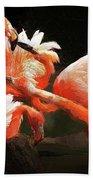 Flamingo Mingles Beach Towel