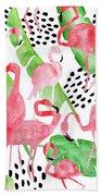 Flamingo Paradise Beach Sheet