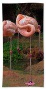 Flamingo See Flamingo Do Beach Towel