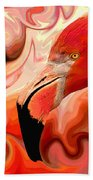 Flamingoed An Abstract In Pink Beach Towel by Shelli Fitzpatrick