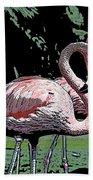 Flamingos I Beach Towel
