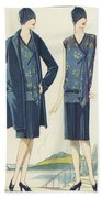Flappers In Frocks And Coats, 1928  Beach Towel