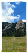 Flatirons Panorama Beach Towel