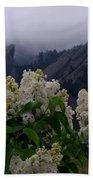 Flatirons White Lilacs Beach Towel