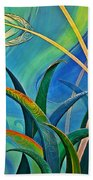 Flax Harakeke By Reina Cottier Beach Towel