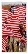 Flight 93 Flags Beach Towel