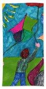 Flight Of Kites Beach Towel