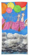 Floating Above Storm Clouds Beach Towel