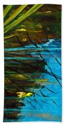 Floating Gold On Reflected Blue Beach Towel