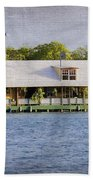 Floating House In La Parguera Puerto Rico Beach Towel