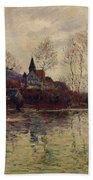 Floods At Giverny Beach Towel by Claude Monet
