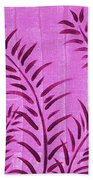 Flora Fauna Tropical Abstract Leaves Painting Magenta Splash By Megan Duncanson Beach Towel