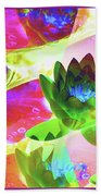 Floral Abstract #3 Beach Towel