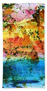 Rustic Landscape Abstract  D2131716 Beach Towel