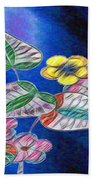 Floral Art Illustrated Beach Towel