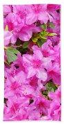 Floral Art Prints Pink Azalea Garden Landscape Baslee Troutman Beach Towel