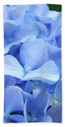 Floral Artwork Blue Hydrangea Flowers Baslee Troutman Beach Towel