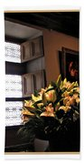 Floral At Chenonceau Beach Towel