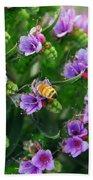 Floral Beehive Beach Towel